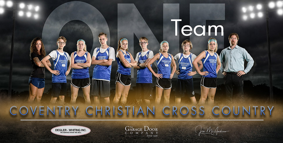 CCS HS CrossCountry 2019 One Team Banner