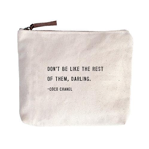 Coco Chanel Canvas Pouch