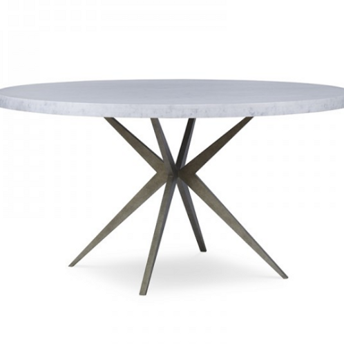 "54"" Carrara Marble Dining Table"