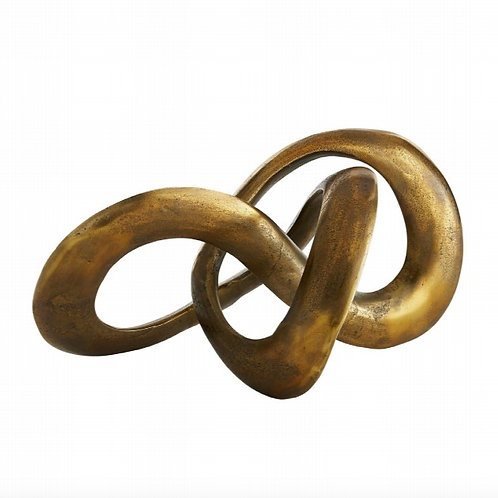 Continuous Loop Brass Sculpture