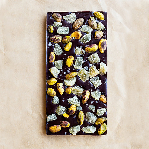 Wildwood Ginger Pistachio Chocolate Bar