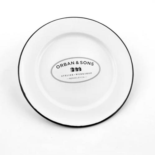 Orban & Sons Enamel Dessert Plate