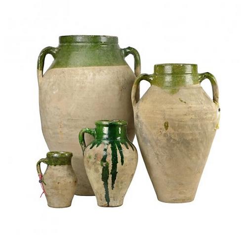 Vintage Mediterranean Olive Jars