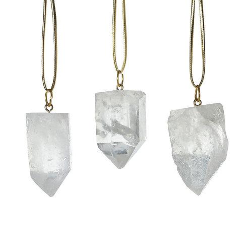 Quartz Geode Ornaments
