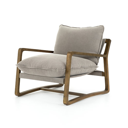 Seattle Chair - Pewter Cotton Canvas