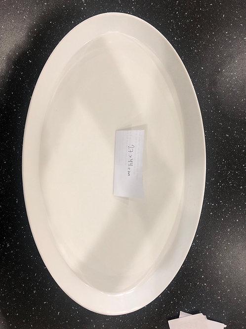 White melamine serving platters (Set of 2)