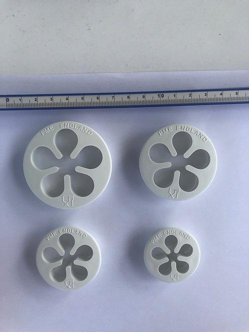 Rose flower cutters set