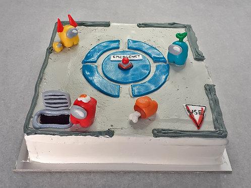 Among Us Cake - Sibling Workshop (9 - 16 years)