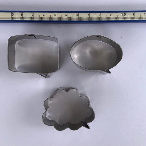 Speech bubble cutters set