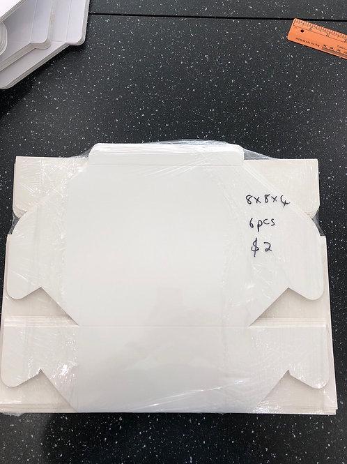 8 x 8 x 4 white cake box (6 pcs)