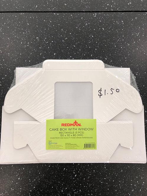 Mini window cake box (5 pcs)