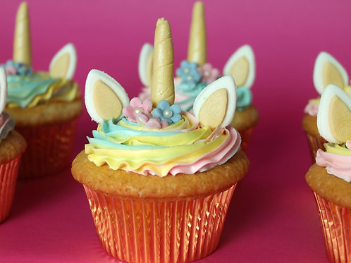Pizza and Unicorn Cupcakes - Parent and Child