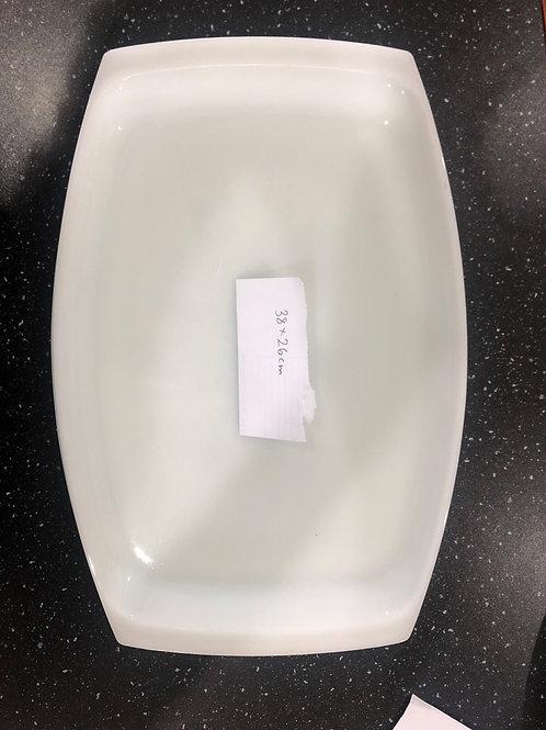 White Pyrex Serving Platter Set of 2