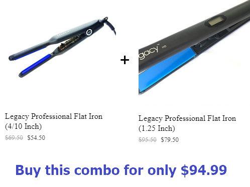 Legacy 0.4-inch Flat Iron + 1.25-inch Flat Iron