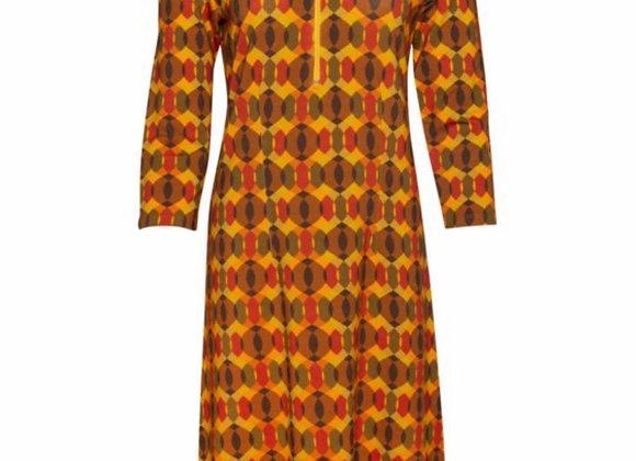 Zipper Dress Orange