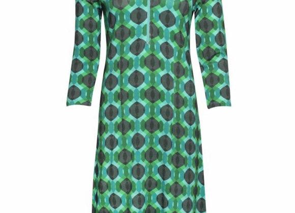 Zipper Dress Blue/Green