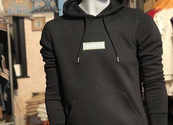 Black Hoodie - Green Smooth