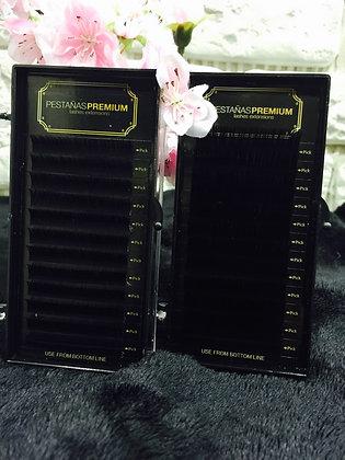 Premium Seda Diámetro 0,10 Curva D Talla 14 mm