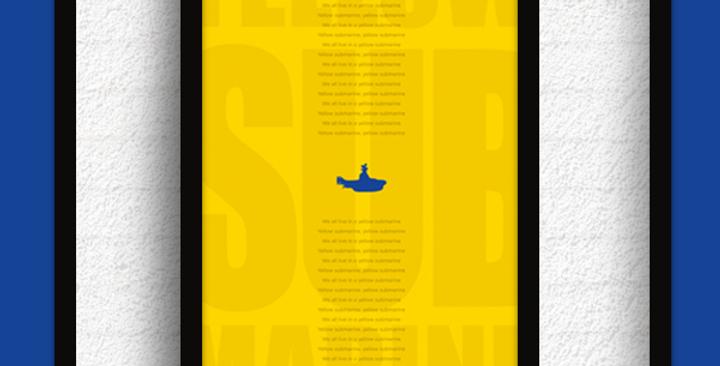 Quadro Yellow Submarine