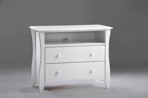 Clove TV Stand White (Wood Knobs)