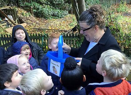 Julie and Children Pond.JPG