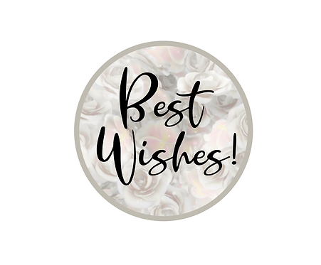 Best Wishes Wedding Package Tag Files
