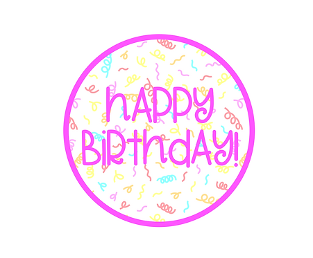 Happy Birthday Confetti 2 Package Tag Files