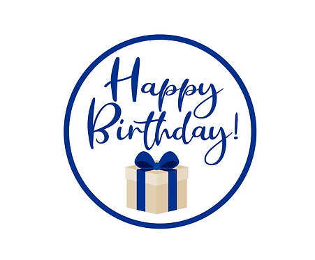 Happy Birthday Blue Package Tag Files
