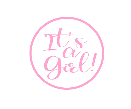 It's A Girl Solid Package Tag Files