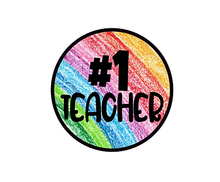 #1 Teacher Crayons Package Tag Files
