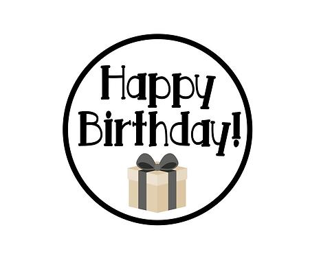 Happy Birthday Black Package Tag Files