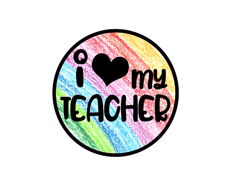 Heart My Teacher Package Tag Files