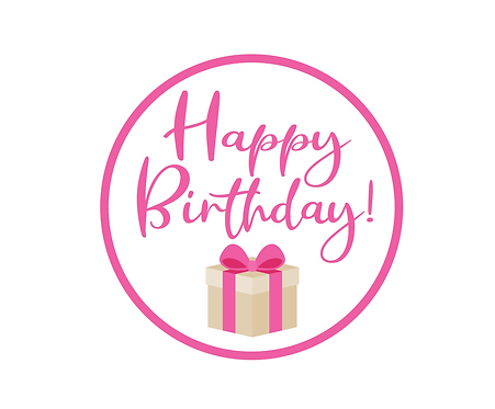 Happy Birthday Pink Package Tag Files