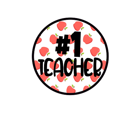 #1 Teacher Apple Background Package Tag Files