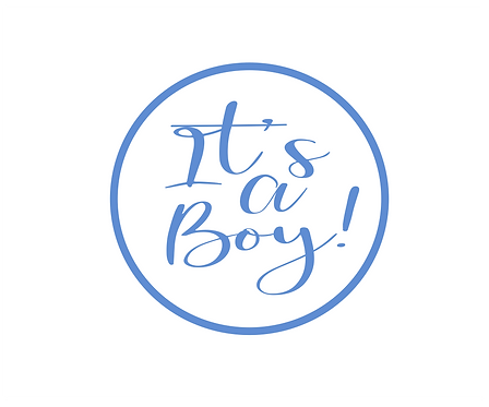 It's A Boy Solid Package Tag Files