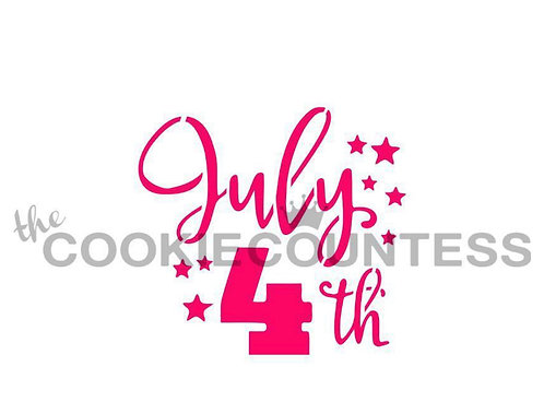 The Cookie Countess July 4th Stencil