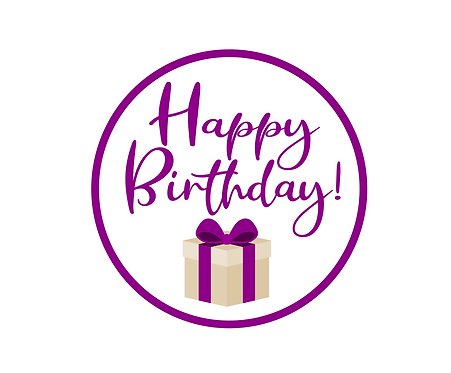 Happy Birthday Purple Package Tag Files