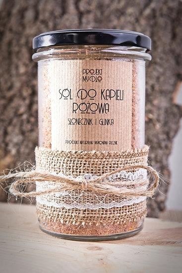 Sól do kąpieli Słonecznik i Glinka Różowa