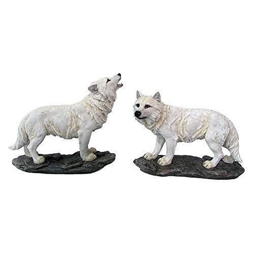 Lupo Bianco Medio su roccia