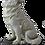 Thumbnail: Lupo Bianco Piccolo su roccia