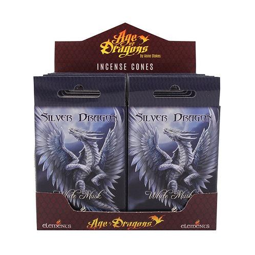 Silver Dragon - Muschio Bianco - Incenso Elements in coni
