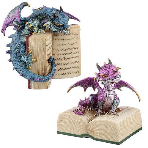 Book Dragon - Drago guardiano della conoscenza 15cm