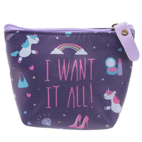Portamonete Unicorno I Want It All
