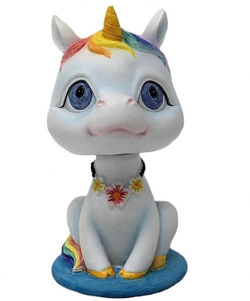 Bobble Head - Kawaii Unicorn RAINBOW 10cm