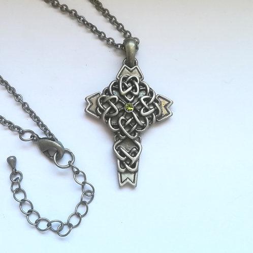 Celtic Cross - Collana Croce Celtica con Pietra