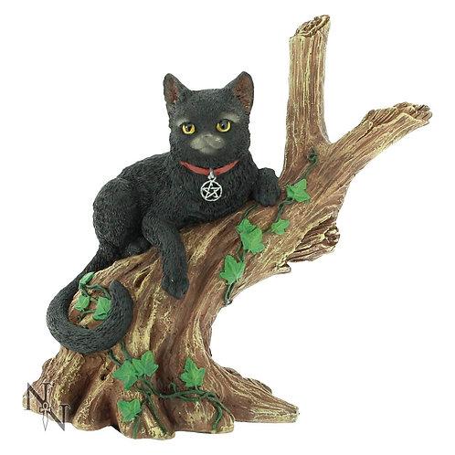 Onyx - Gatto nero sul ramo 14cm