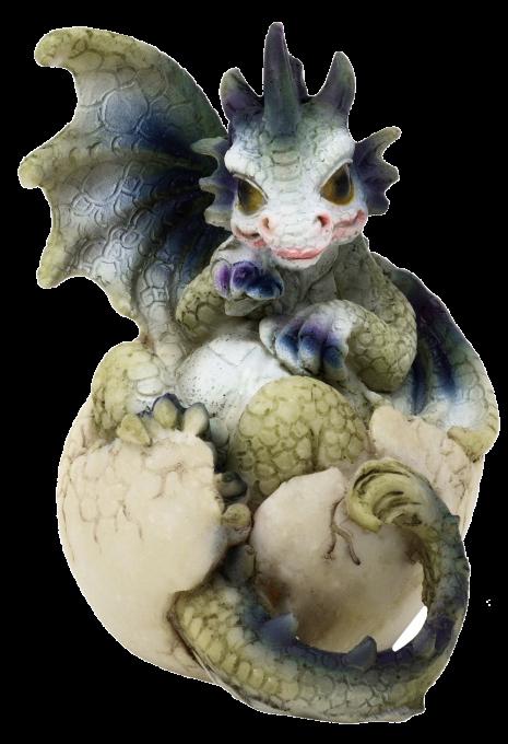 Drago dei Boschi - Cucciolo nell'uovo Piccolo Tipo B 7cm