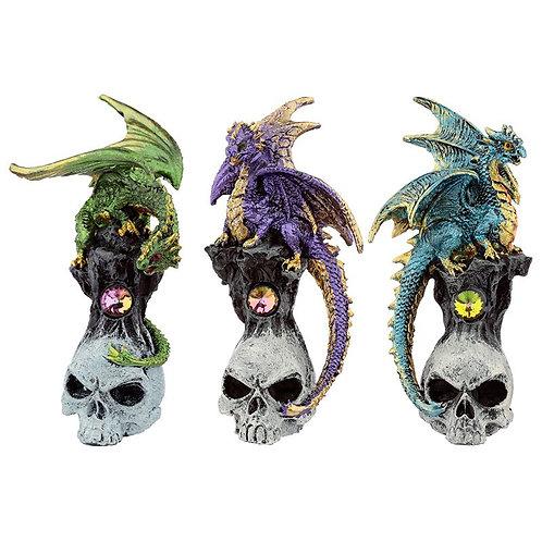Dark Gemstone Skull Dragon - Dragosu teschio con gemma 10,5cm