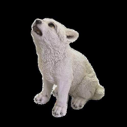 Winters Cry - Cucciolo di lupo bianco22,5cm