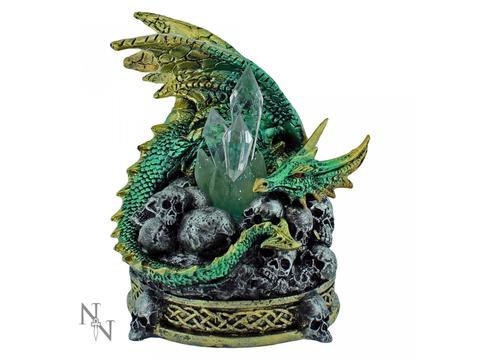 Crystal Crypt - Drago con cristallo luminoso 11,5cm